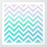 Fairy Dust Chevron Art Print