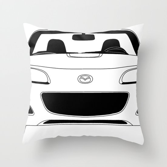 NC Miata/MX-5 Throw Pillow