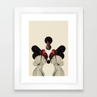 helen and clytemnestra Framed Art Print