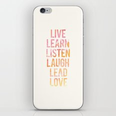 Life Words iPhone & iPod Skin