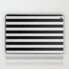 Sleepy Black and White Stripes Laptop & iPad Skin