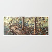 Pirate Melee Canvas Print