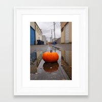 Framed Art Print featuring October Alley by Vorona Photography