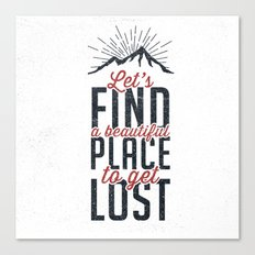 FIND A PLACE Canvas Print
