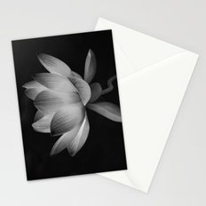 Lotus Blossom Flower 15 (Black and White) Stationery Cards