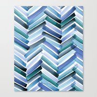 Cycladic Chevron Canvas Print