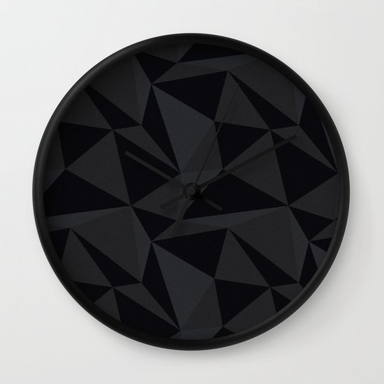Triangular Black Wall Clock