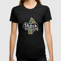 The Shack Womens Fitted Tee Tri-Black SMALL