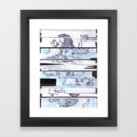 Autistic Remix #002 Framed Art Print
