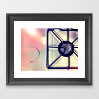Coffee Stain Framed Art Print