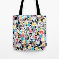 Alpha Pattern Tote Bag