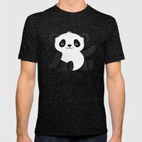 Happy Panda Mens Fitted Tee Tri-Black SMALL