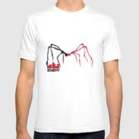 Enemy Mens Fitted Tee White SMALL