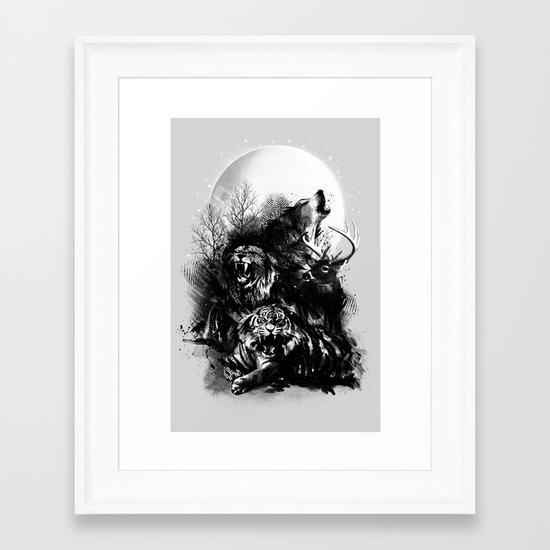 Call of the Wild (GRAY) Framed Art Print