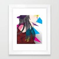 nube mente corazon Framed Art Print