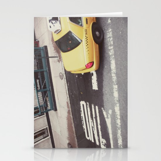 one way taxi:: nyc Stationery Card