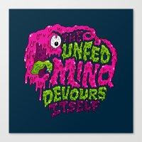 The unfed mind devours itself. Canvas Print