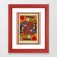 King of Hearts Framed Art Print