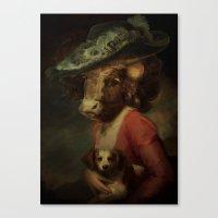 Cow #3 Canvas Print