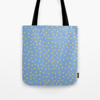 Yellow Pit on Blue /// www.pencilmeinstationery.com Tote Bag