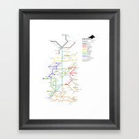 The Bus Is Coming. Framed Art Print