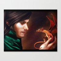 The Baby Dragon Canvas Print