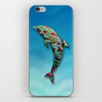 Animal Mosaic - The Dolp… iPhone & iPod Skin