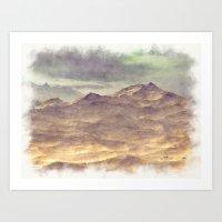 Painted Mountains Landsc… Art Print