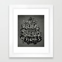 Don't believe in status messages Framed Art Print