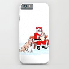 Merry Christmas - Santa Claus with Cat and Dog iPhone 6 Slim Case