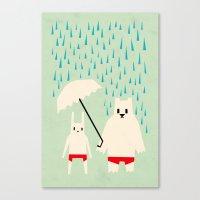 Under Your Umbrella Canvas Print