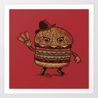 Scary Meal Art Print