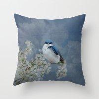 Tree Swallow Throw Pillow