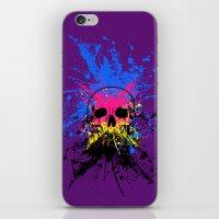 Skull splatter iPhone & iPod Skin