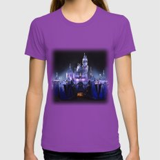 Sleeping Beauty's Winter Castle (Night-time, no 1) Womens Fitted Tee Ultraviolet SMALL