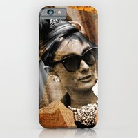 iPhone & iPod Case featuring Audrey Hepburn - Ripped Paper Style - by Tobia Crivellari