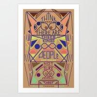 Haikuglyphics - Thoughts… Art Print