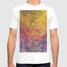 NEON MOUNTAINS / PATTERN SERIES 006 Mens Fitted Tee SMALL White