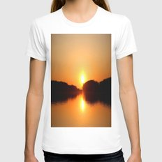 Beautiful Sunset Womens Fitted Tee White SMALL