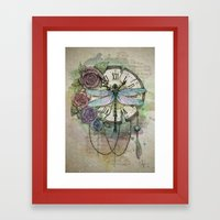 Time flies Framed Art Print