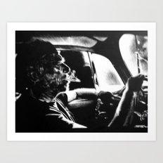 Bukowski's Sunday Drive Art Print
