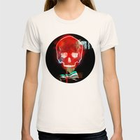 Cool_skull Womens Fitted Tee Natural SMALL