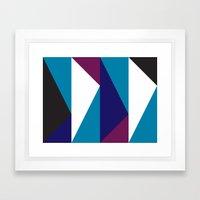 Blue Purple Triangle Pat… Framed Art Print