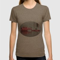 Heart Drops Womens Fitted Tee Tri-Coffee SMALL
