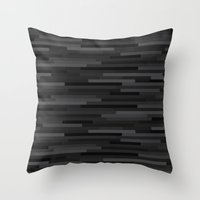 Black Estival Mirage Throw Pillow