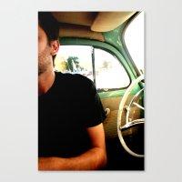 Mitad hombre Mitad volante Canvas Print