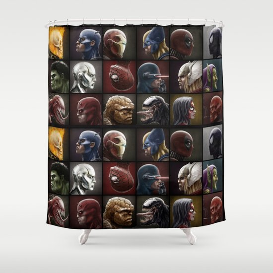 Marvelous Eighteen Shower Curtain