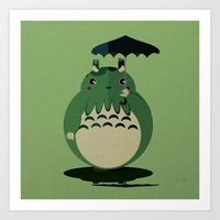 my neighbor cthulu Art Print