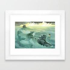 Jonah Tossed Overboard (by Melanie Matthews) Framed Art Print