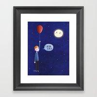 I Just Came To Say 'Hi'! Framed Art Print